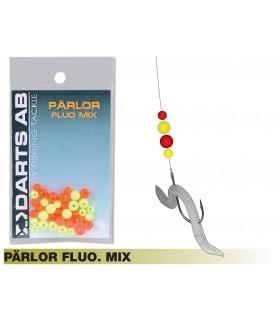 Darts fluorestseeruvate klaaspärlite sortiment