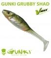 Gunki Grubby Shad   UV Green Perch
